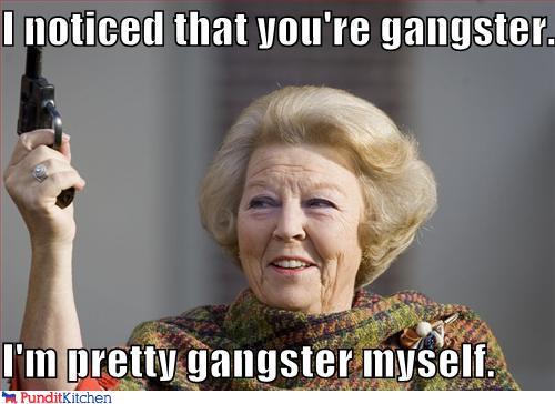 Funny Meme Old Lady : Gangster is a state of mind randomoverload