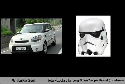 White Kia Soul Totally Looks Like Storm Trooper Helmet On