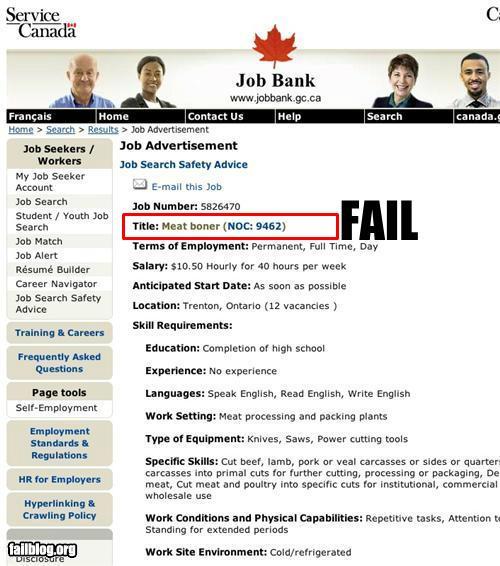 Job Title Fail