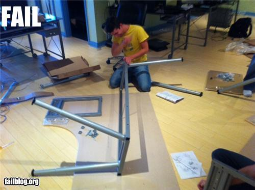 Desk assembly fail randomoverload for Furniture assembly seattle