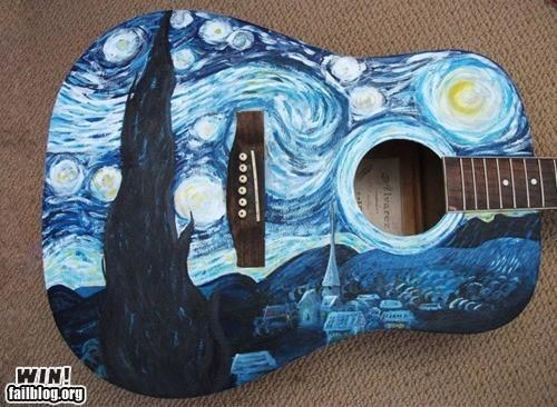 Starry Night Guitar Win Randomoverload