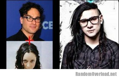 Image johnny-galecki-sara-gilbert-totally-looks-like-skrillex.jpg