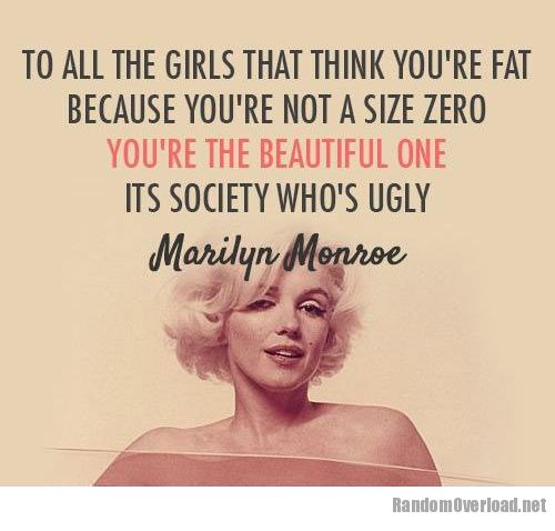 To all girls who think they're fat - RandomOverload