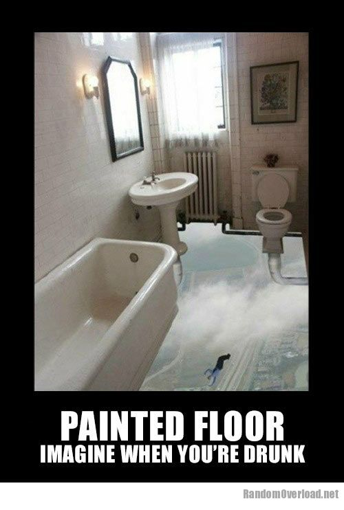 Funny bathroom paintings