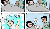 Image funny-girl-doctor-Cat-cute-sick.jpg
