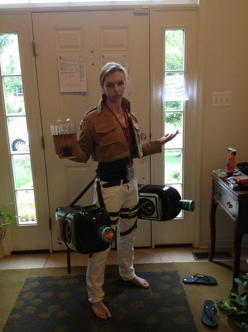Submitted by Unknown Tagged costume  attack on titan  jagermeister  eren yeager  funny  after 12  g rated  sc 1 st  Randomoverload.org & Eren Jager...Bomb? - RandomOverload