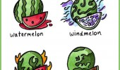 Image funny-elements-melons-water-fire-earth-wind.jpg