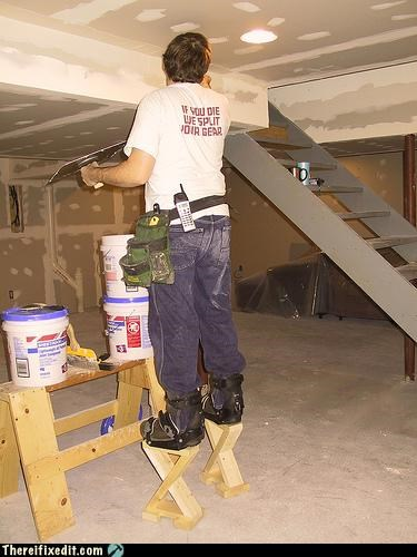 drywall stilts costume