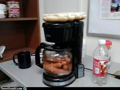 Coffee Maker Very Hot Coffee : Coffee Machine Upgraded to Hotdog Maker - RandomOverload