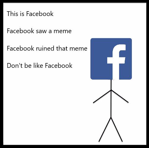 facebook ruined bob meme