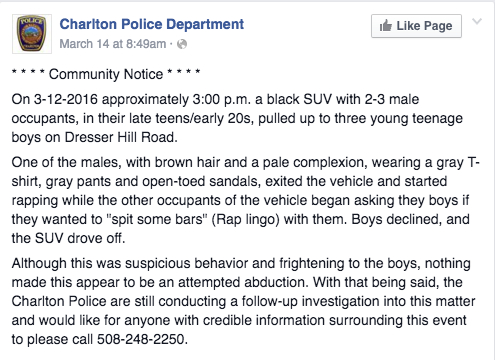 rap sandals police facebook Police Warning of a Drive by Rap Battle Is Met With Mocking Comments