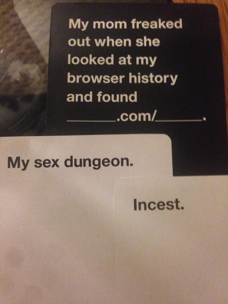 parenting,cards against humanity,win,incest,dating