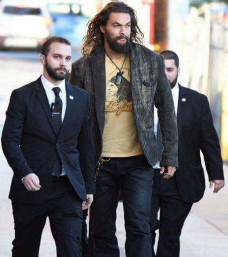 Jason Momoa And His Two ' Bodyguards '