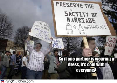 pro and anti-marriage equality protesters