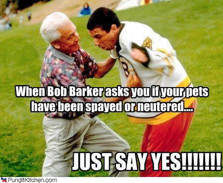 bob barker and adam sandler