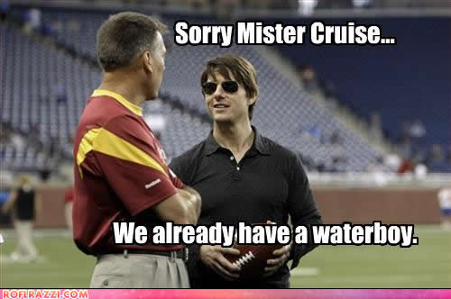 jim zorn and tom cruise