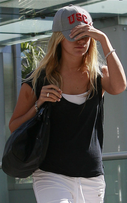 Ashley Tisdale Arriving At The Gym In West Hollywood
