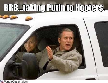 vladimir putin and george w. bush
