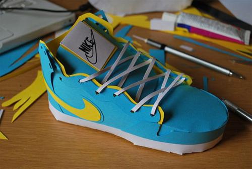 blue Nikes