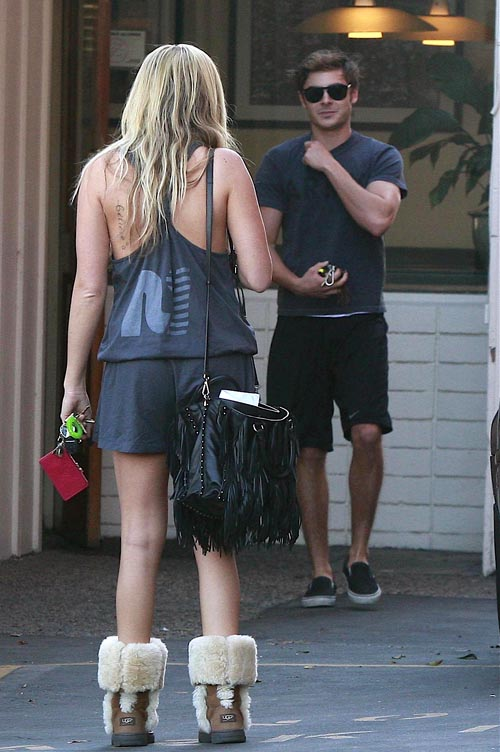 Zac Efron And Ashley Tisdale Out For Lunch At Patty's