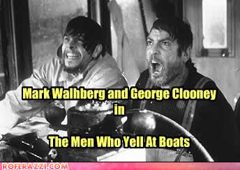 mark walhberg and george clooney