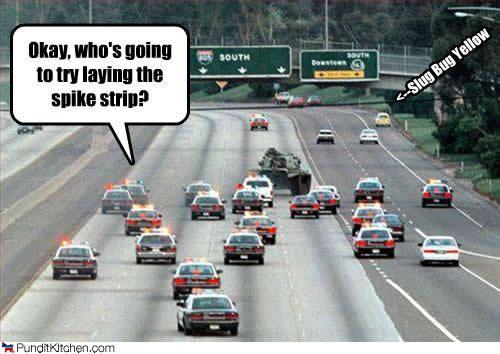 tank on highway