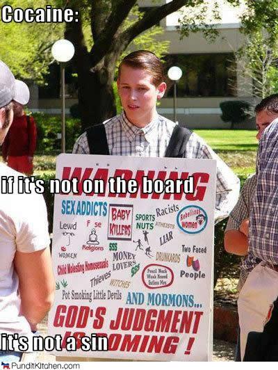 religious protester