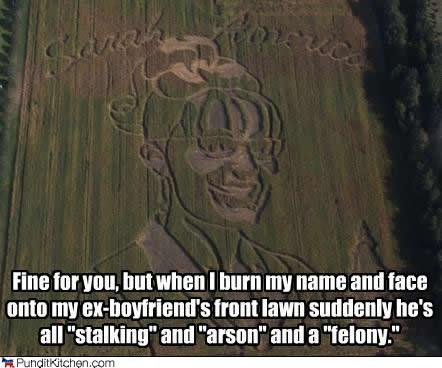 cornfield sarah palin