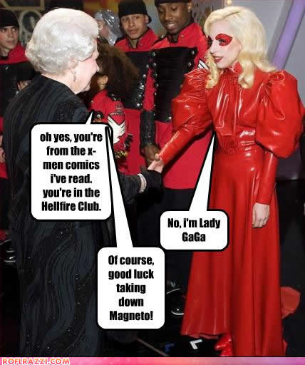 queen elizabeth II and lady gaga