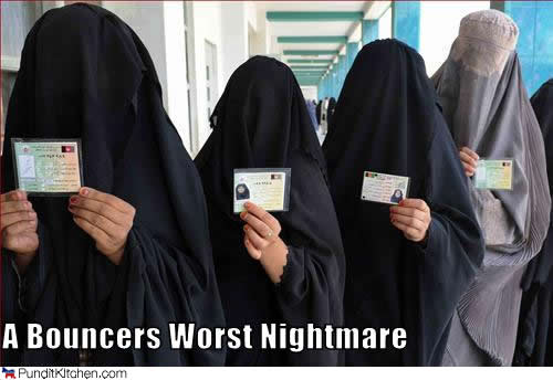 afghan women queuing up to vote