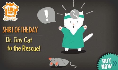 lolmart shirts, dr. tiny cat design