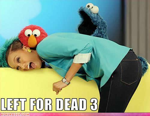 Elmo, Tyra Banks and Cookie Monster