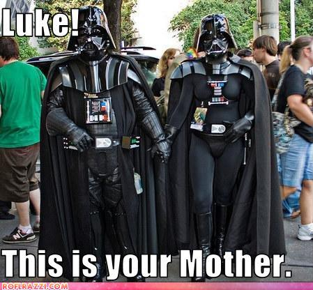 darth vader and lady friend
