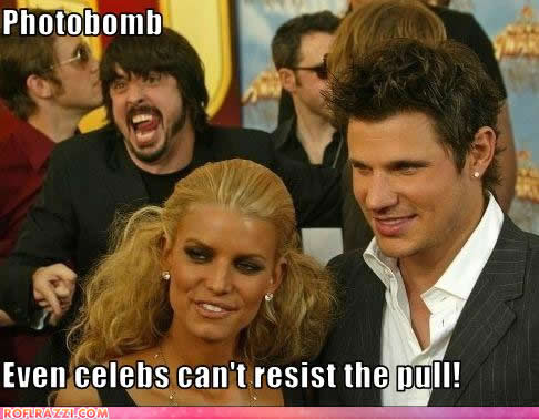 dave grohl, jessica simpson and nick lachey