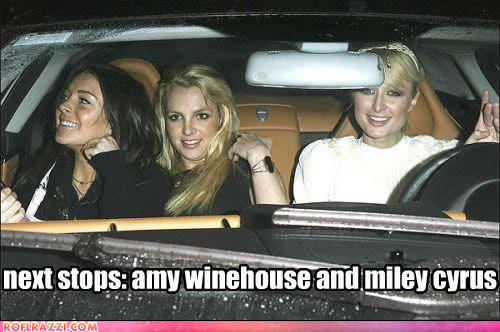 Lindsay Lohan, Britney Spears and Paris Hilton