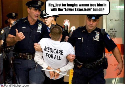 health care protester