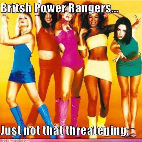 The Spice Girls: Emma Bunton, Melanie Chisholm, Geri Halliwell, Melanie Brown and Victoria Beckham