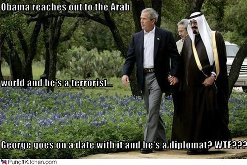 george w. bush and king abdullah of saudi arabia