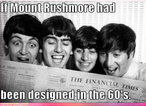 The Beatles: Paul McCartney, George Harrison, Ringo Starr and John Lennon