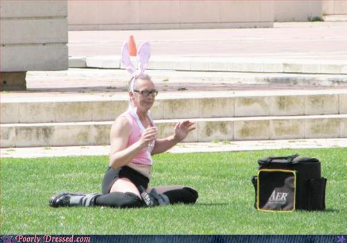 Fashion Fail - Public... Rabbit... Yoga? ...What?