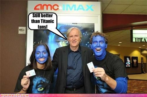 funny celebrity pictures - Still better than Titanic fans!
