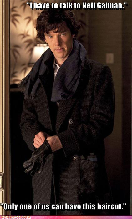 funny celebrity pictures - Sherlock channeling Jack Donaghy