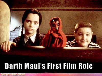 funny celebrity pictures - Darth Maul's First Film Role