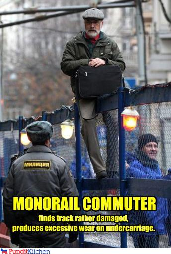 political pictures - MONORAIL COMMUTER