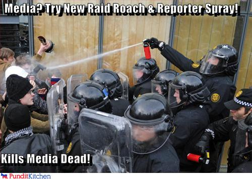 political pictures - Media? Try New Raid Roach & Reporter Spray!  Kills Media Dead!