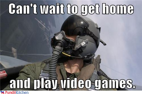 political pictures - Can't wait to get home      and play video games.