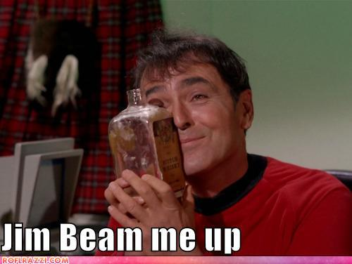funny celebrity pictures - Jim Beam me up