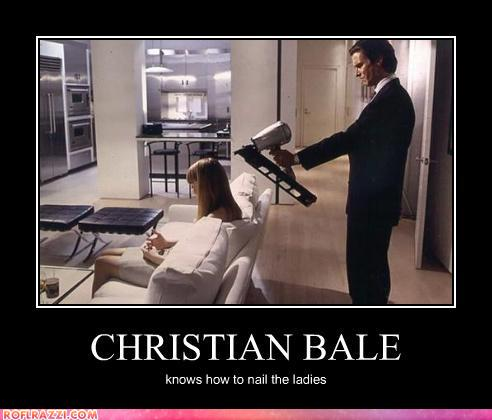 funny celebrity pictures - CHRISTIAN BALE