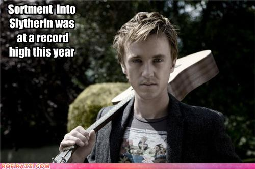 funny celebrity pictures - Sortment  into  Slytherin was  at a record  high this year