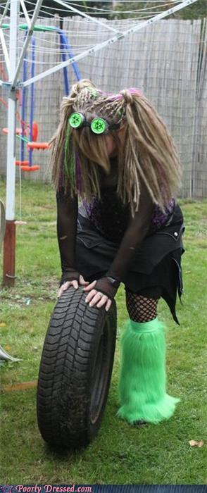 fashion fail - Pushing That Tire to the Land of Bio-hazard Goths